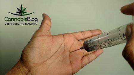 Шприц для заправки тупой для прокалывания кожи