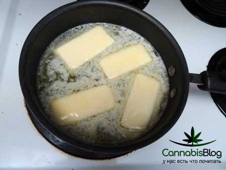 Обжаривание марихуаны в масле